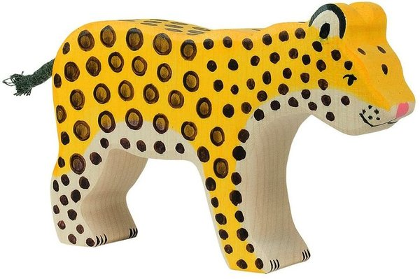 Holztiger - 80566 - Raubtiere, Leopard, Holz, 13,5cm